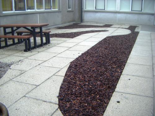 Garden at Kites Cape Cornwall School