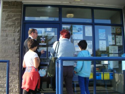 Penzance Police Station doors close