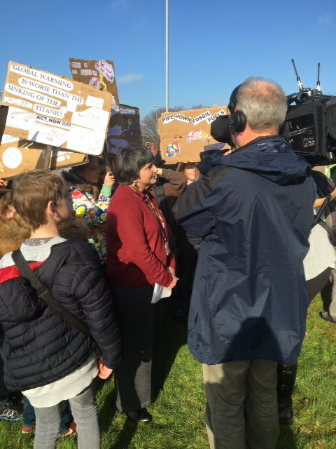 Cornwall's student strike highlighting the Climate emergency